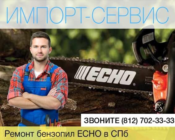 Ремонт бензопил ECHO в Санкт-Петербурге
