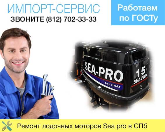 Ремонт лодочных моторов Sea pro в Санкт-Петербурге