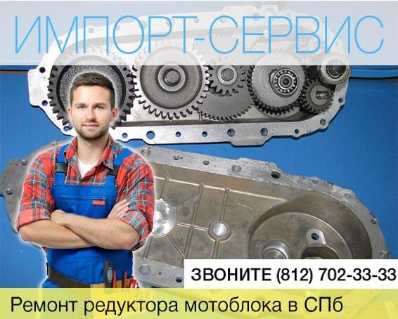 Ремонт редуктора мотоблока в Санкт-Петербурге