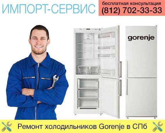 Ремонт холодильников Gorenje в Санкт-Петербурге