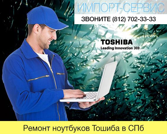 Ремонт ноутбуков Тошиба в Санкт-Петербурге