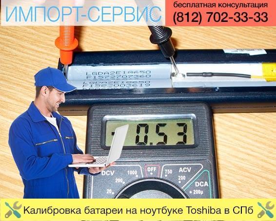 Калибровка батареи на ноутбуке Toshiba в Санкт-Петербурге