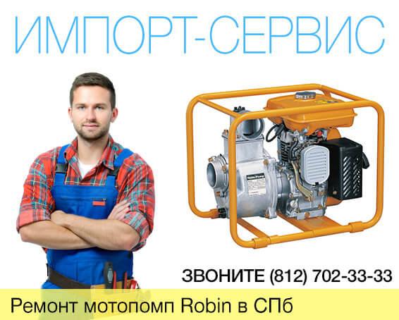 Ремонт мотопомп Robin в Санкт-Петербурге