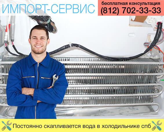 Постоянно скапливается вода в холодильнике Санкт-Петербург