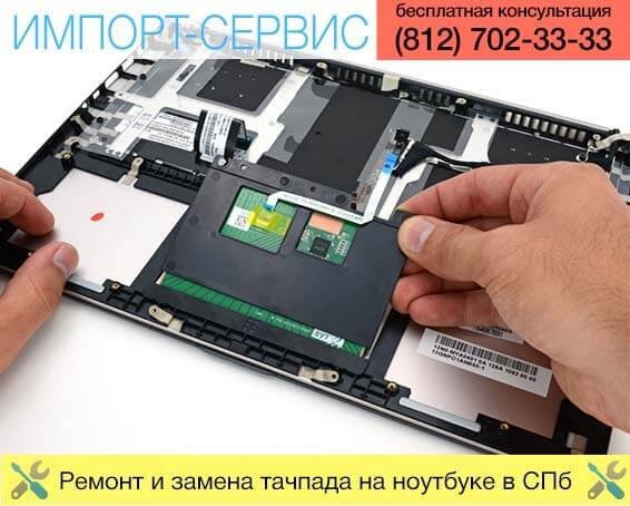 Ремонт и замена тачпада на ноутбуке