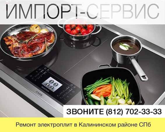 Ремонт электроплит в Калининском районе СПб