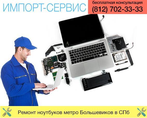 Ремонт ноутбуков метро Большевиков в Санкт-Петербурге