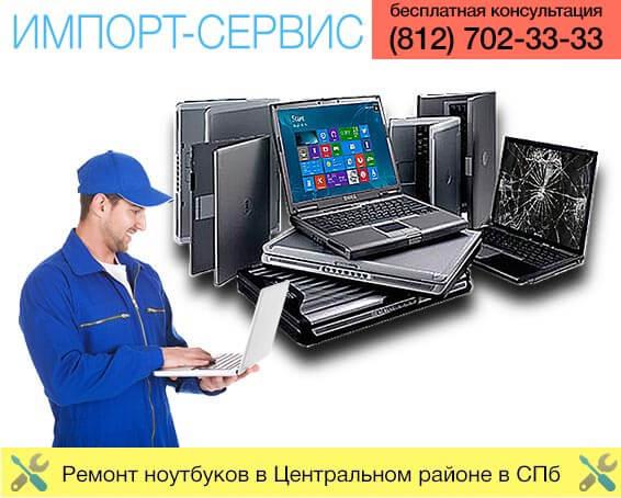 Ремонт ноутбуков в Центральном районе в Санкт-Петербурге