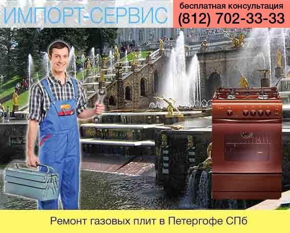 Ремонт газовых плит в Петергофе Санкт-Петебурге