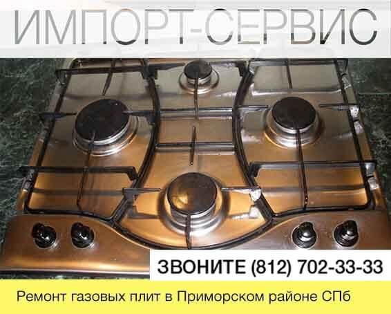Ремонт газовых плит Приморском СПб