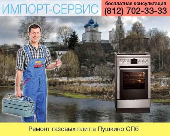 Ремонт газовых плит в Пушкино в Санкт-Петебурге