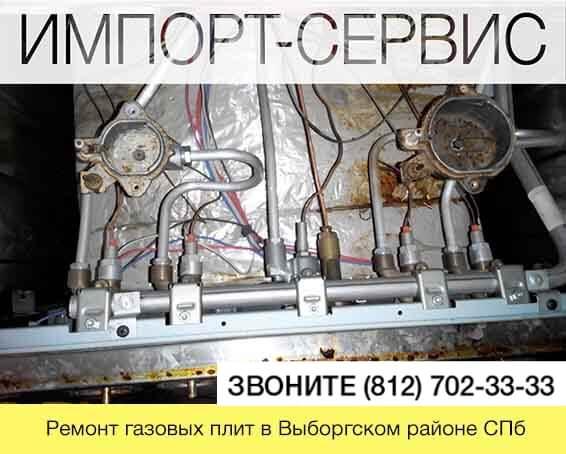 Ремонт газовых плит в Выборгском районе СПб