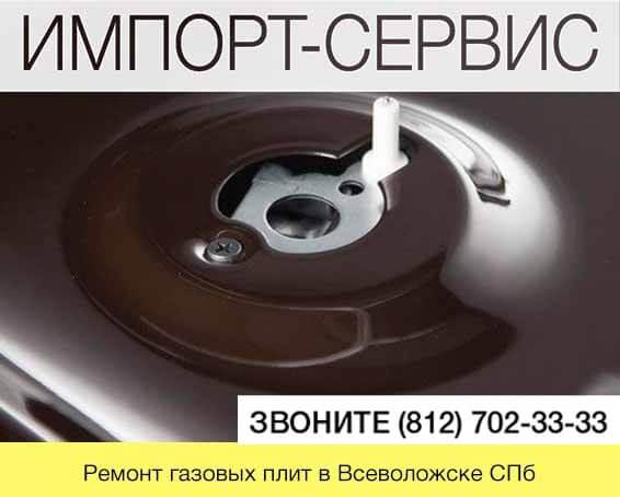 Ремонт газовых плит во Всеволожске СПб