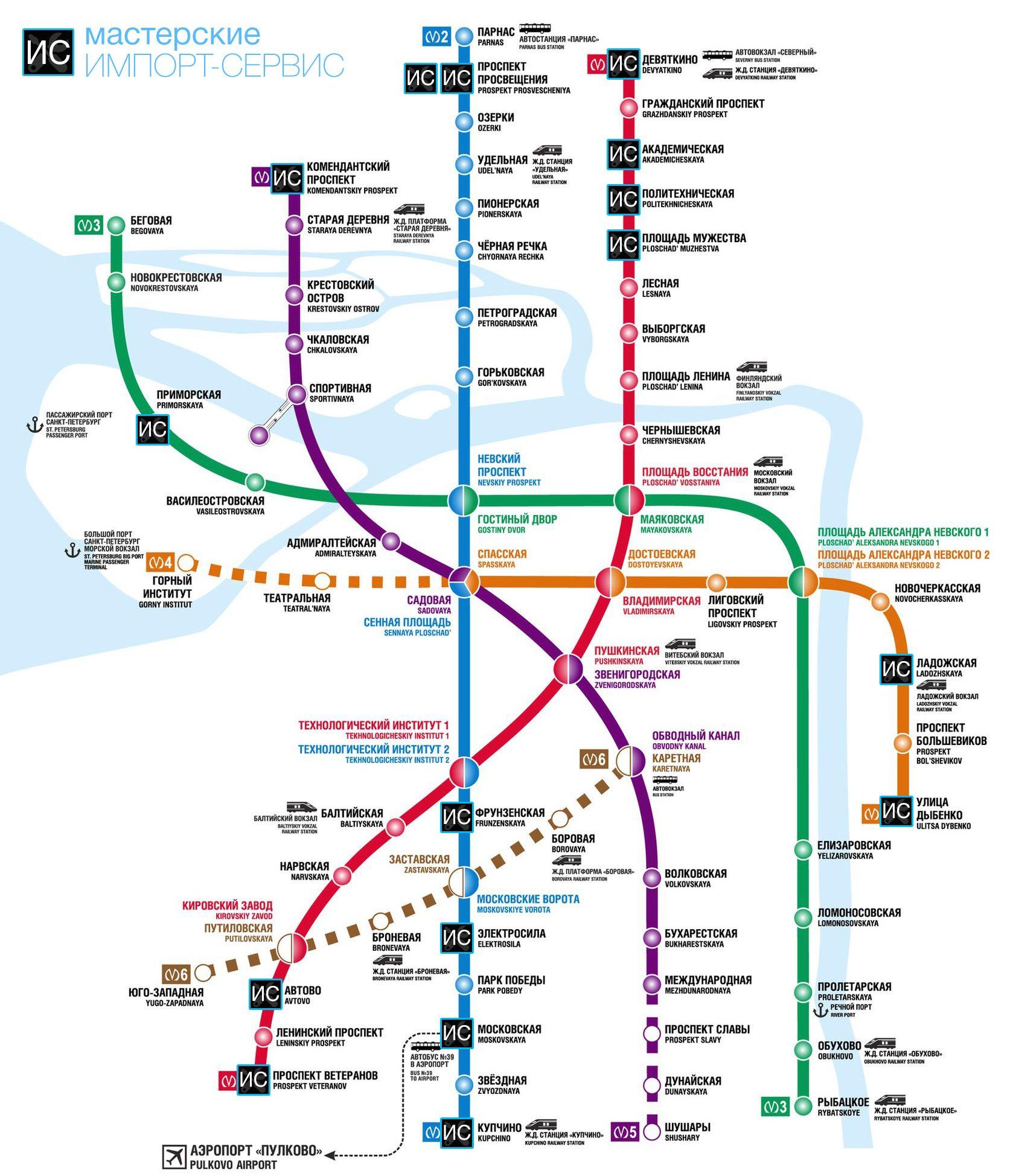Мастерские Импорт-сервис на карте метро