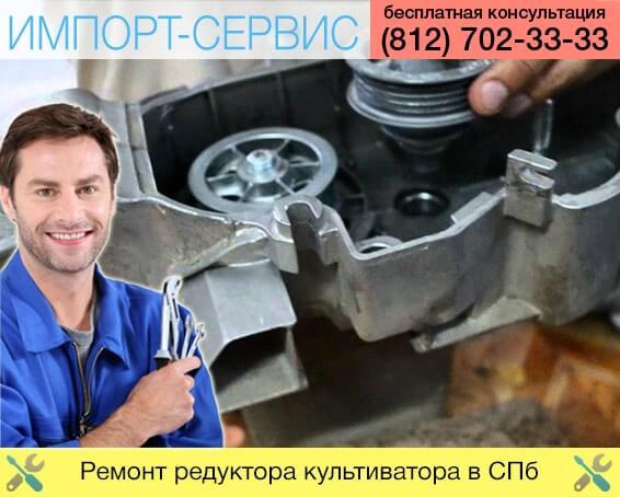 Ремонт редуктора культиватора в Санкт-Петербурге