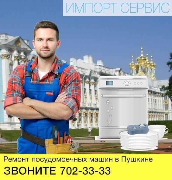 Ремонт посудомоечных машин в Пушкине