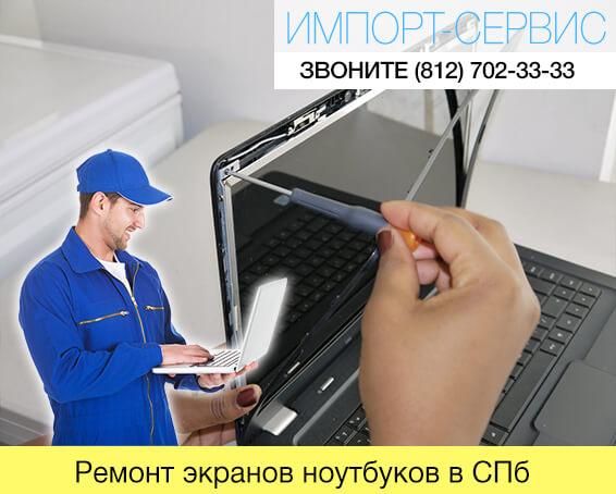 Ремонт экранов ноутбуков в Санкт-Петербурге