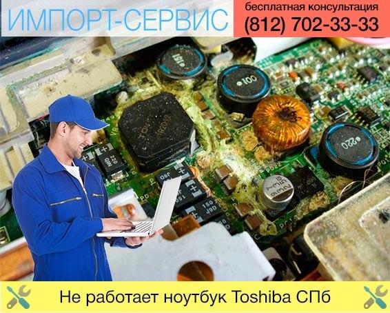 Не работает ноутбук Toshiba в Санкт-Петербурге