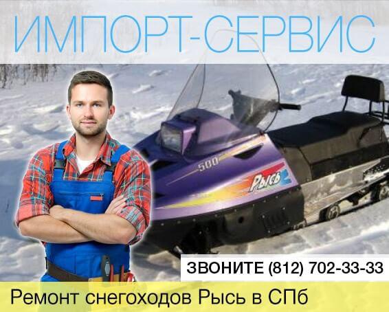 Ремонт снегоходов Рысь в Санкт-Петербурге