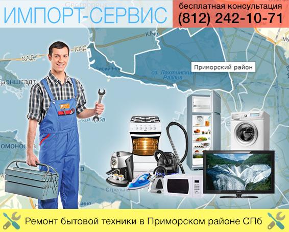 Ремонт бытовой техники в Приморском районе СПб
