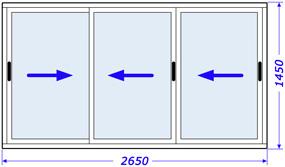 Пластиковые окна, стеклопакеты в  Брежневке, крупнопанельный, серия 600.11