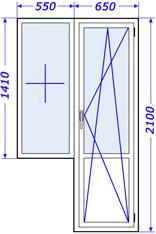 Пластиковые окна в доме крупнопанельном, серия 121