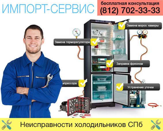 Неисправности холодильников Санкт-Петербурге