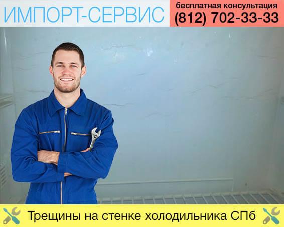 Трещины на стенке холодильника Санкт-Петербург