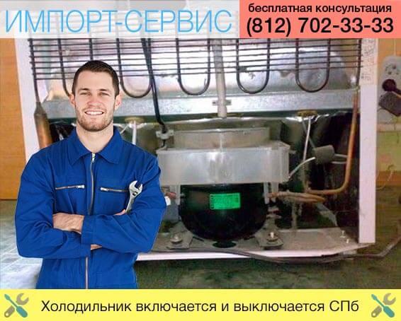 Холодильник включается и выключается Санкт-Петербург