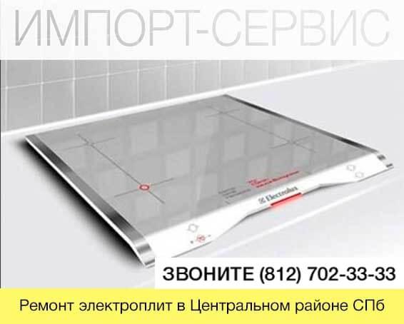 Ремонт электроплит в Центральном районе СПб