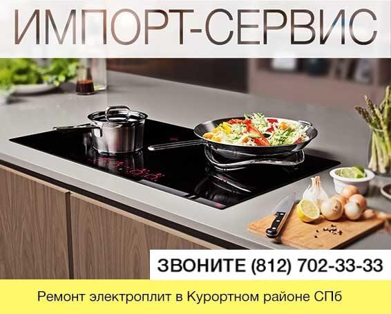 Ремонт электроплит в Курортном районе СПб