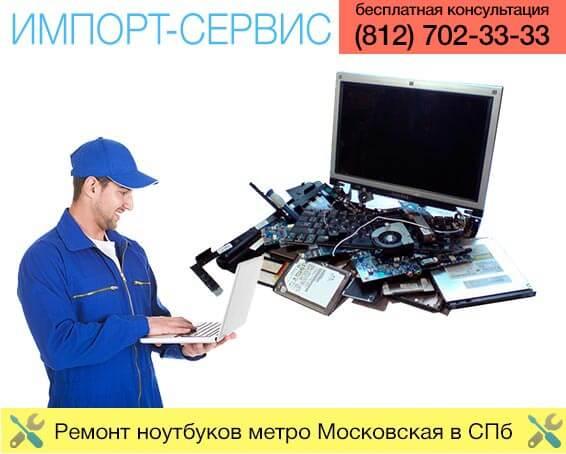 Ремонт ноутбуков метро Московская в Санкт-Петербурге