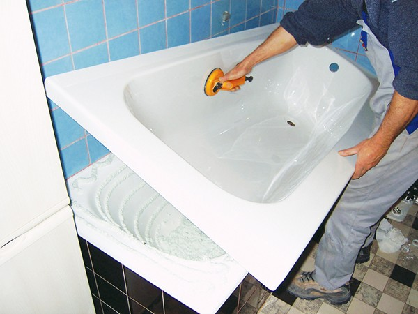 Восстановление ванны акриловым вкладышем в Питере